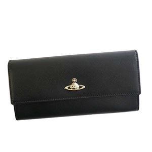 Vivienne Westwood(ヴィヴィアンウエストウッド) フラップ長財布  321522-10083 265 BLACK