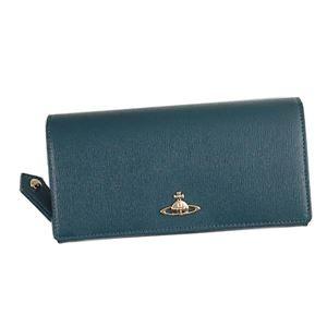Vivienne Westwood(ヴィヴィアンウエストウッド) フラップ長財布  51060001-40153 K411 BLUE