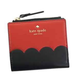 KATE SPADE(ケイトスペード) 二つ折り財布(小銭入れ付)  PWRU5900 631 RED CARPET