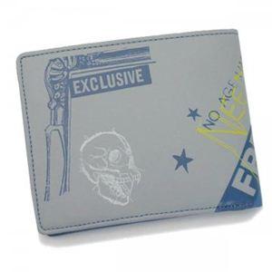 DIESEL(ディーゼル) 二つ折り財布(小銭入れ付) MONEY-MONEY XL58 H2930 ライトブルー H10×W12.5×D1.5