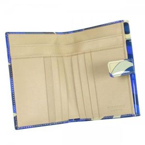 Emilio Pucci(エミリオプッチ) Wホック財布  96SM05 18 ブルー H10×W13.5×D2.5