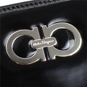 Ferragamo(フェラガモ) 長財布 GANCINI ICONA VERNIC 227125 439991 ブラック【ブランド7sale】10月12日15時まで限定値下げ2個限り