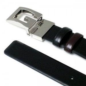 Gucci(グッチ) ベルト 211563 1062 ダークブラウン/ブラック バックル3.5×4