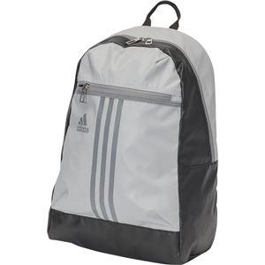 adidas(アディダス) 3ストライプス Basic バックパック 22L BIP66 クリアオニキス×グレー