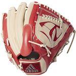 adidas(アディダス) Baseball 軟式カラーグラブ PI DUV04 トレースカーキ×スカーレット RH