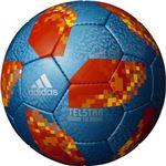 adidas(アディダス) ワールドカップ2018 テルスター18 グライダー 5号球 AF5304SKOR(サックス×オレンジ)