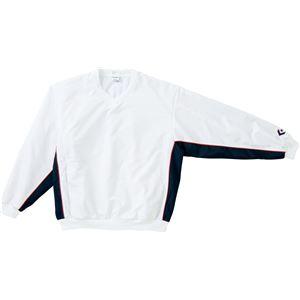 CONVERSE(コンバース) Vネックウォームアップジャケット ホワイト×ネイビー SS