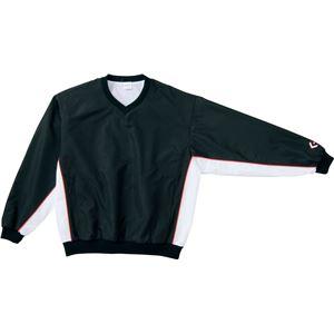 CONVERSE(コンバース) Vネックウォームアップジャケット ブラック×ホワイト 3S