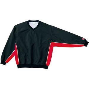 CONVERSE(コンバース) Vネックウォームアップジャケット ブラック×レッド 3S