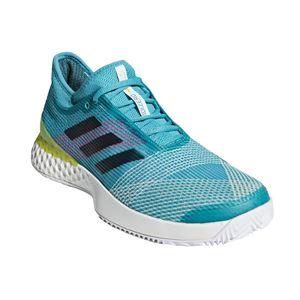 adidas(アディダス) adidas Tennis UBERSONIC 3 MULTICOURT ランニングホワイト×レジェンドインクF17×ショックイエローF18 F36721 【27.5cm】