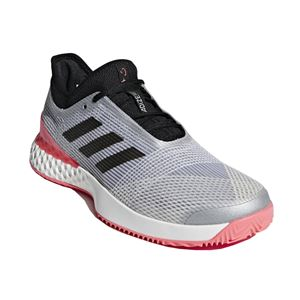 adidas(アディダス) adidas Tennis UBERSONIC 3 MULTICOURT マットシルバー×コアブラック×フラッシュレッドS15 F36722 【27.5cm】
