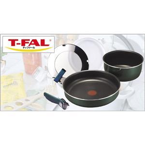 T-FAL(ティファール) インジニオ ボトルグリーン ボルドーセット