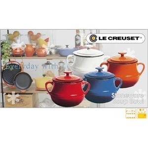 LeCreuset(ル・クルーゼ) ストーンウェア スープ ボウル 2P 910011−00−06 レッド