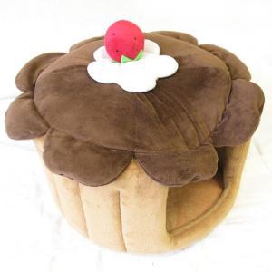 キュートな苺がのっかったアイスクリームベッド♪アイスクリーム ベッド ブラウン