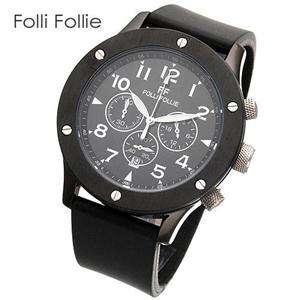 Folli Follie クロノグラフ レザーウォッチ WT6Y001SEK