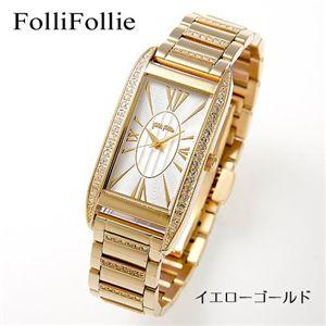 Folli Follie(フォリフォリ) パヴェブレスウォッチ WF7C020BPS/イエローゴールド