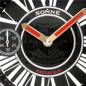 SONNE(ゾンネ) 手巻きレザーウォッチ S110/ブラック×ピンクゴールド