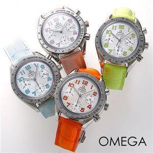 OMEGA スピードマスター レザー 3834 ライトグリーン