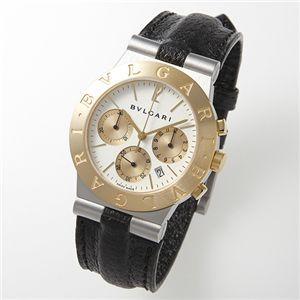ブルガリBVLGARI/CH35WSGLD腕時計ディアゴノクロノグラフレザー(ホワイト)