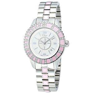クリスチャンディオール 腕時計 ディオールクリスタルホワイトパールCD113110M001