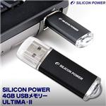 SILICON POWER 4GB USBメモリー ULTIMA-II 32513-4GB00-01-JP