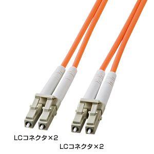 サンワサプライ 光ファイバケーブル HKB-LCLC5-10L