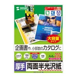 サンワサプライ カラーレーザー用半光沢紙 両面印刷 ・厚手 LBP-KCAGNA4-250