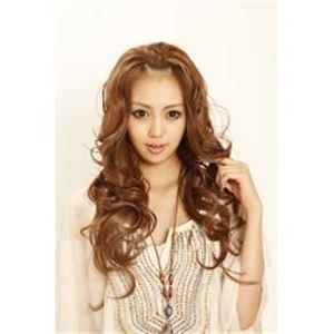 180℃耐熱ファイバーウィッグ 前髪アップできるハーフキャップ ライトブラウン DL1863-12
