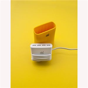 Jelly 5.1A USB4ポート充電器イエロー 5A_USB4T_Y_JP