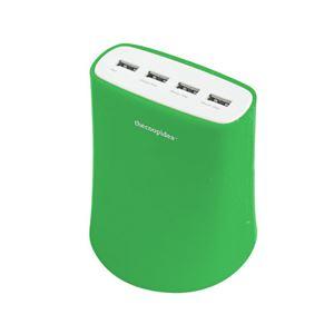 Jelly 5.1A USB4ポート充電器グリーン 5A_USB4T_GR_JP