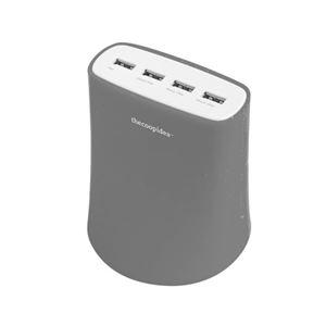 Jelly 5.1A USB4ポート充電器グレー 5A_USB4T_GL_JP