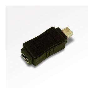 (まとめ)ミヨシ(MCO)USB変換アダプタ ミニB-マイクロ USA-MMC【×10セット】