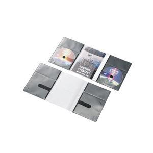 (まとめ)エレコム CD/DVD用スリム収納ソフトケース CCD-DP2D10BK【×5セット】