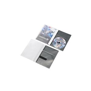 (まとめ)エレコム CD/DVD用スリム収納ソフトケース CCD-DPD10BK【×10セット】