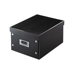 (まとめ)サンワサプライ 組み立て式DVDBOX(ブラック) FCD-MT4BK【×5セット】