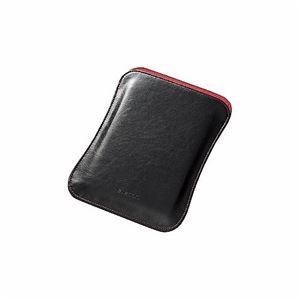 【訳あり・在庫処分】(まとめ)エレコム iPad mini用ソフトレザーポーチ TB-A13SLPBK【×2セット】