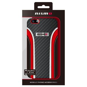 NISSAN 公式ライセンス品 NISMO LEATHER &CARBON PATTERN HARD CASE iPhone6 用 NM-P47S8BK