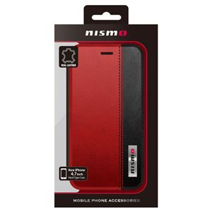 NISSAN 公式ライセンス品 NISMO BICOLOR LEATHER BOOK TYPE CASE iPhone6 用 NM-P47B3RD