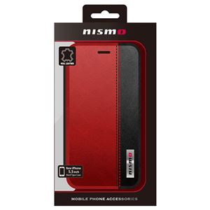 NISSAN 公式ライセンス品 NISMO BICOLOR LEATHER BOOK TYPE CASE iPhone6 PLUS用 NM-P55B3RD