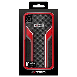 トヨタ レーシング デベロップメント公式ライセンス品 Carbon Leather Book Type Case for iPhone6 iPhone6 用 TRD-P47B1