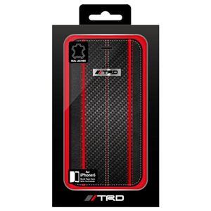 トヨタ レーシング デベロップメント公式ライセンス品 Carbon Leather Book Type Case for iPhone6 iPhone6 用 TRD-P47B2