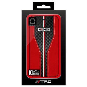 トヨタ レーシング デベロップメント公式ライセンス品 Carbon Leather Book Type Case for iPhone6 iPhone6 用 TRD-P47B3