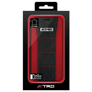 トヨタ レーシング デベロップメント公式ライセンス品 Leather Book Type Case for iPhone6 iPhone6 用 TRD-P47B4