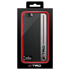 トヨタ レーシング デベロップメント公式ライセンス品 Carbon&Metal Style Back Cover for iPhone6 iPhone6 用 TRD-P47S1