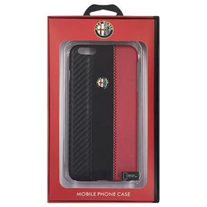 Alfa Romeo 公式ライセンス品 High Quality Carbon Synthettic Leather back cover Red iPhone6 PLUS用 AR-HCIP6P-4C/D5-RD