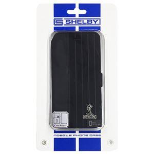 (まとめ)Shelby 公式ライセンス品 Sythetic leather slim flip case w/card holder iPhone6 用 CSL-SSHFCIP6-MU/D4-BK【×2セット】
