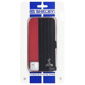(まとめ)Shelby 公式ライセンス品 Sythetic leather slim flip case w/card holder iPhone6 用 CSL-SSHFCIP6-MU/D4-RD【×2セット】