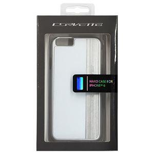 CORVETTE 公式ライセンス品 Hard Case White color、 silver brushed aluminum finish iPhone6 用 COHCP6MEWH