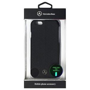 Mercedes-Benz 公式ライセンス品 Pure Line 本革ハードケース (パンチング仕上げ) ブラック iPhone6 用 MEHCP6PEBK