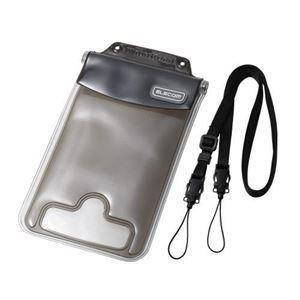 (まとめ)エレコム スマートフォン用防水・防塵ケース(水没防止タイプ) P-03WPS2BK【×2セット】